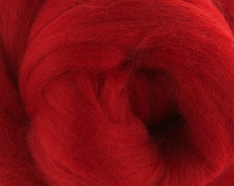 Two Ounces Extra Fine Merino Wool Roving, Color Passion