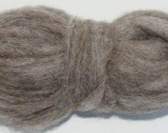 Squirrel Bulky Carded Corriedale One Ounce for Needle Felting