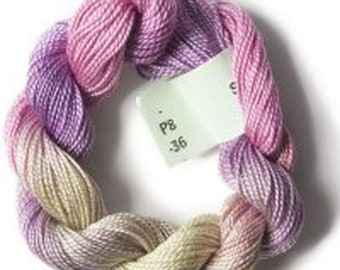SALE! Hand Dyed Stef Francis Perle Pearl 8 Cotton Thread #36  for Embroidery and Fiber Arts