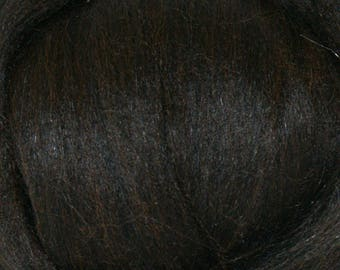 Black Baby Alpaca Top Two Ounces for Felting, Spinning