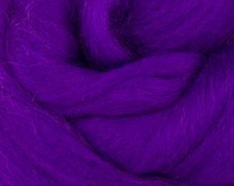 Royal Violet Corriedale 2 oz World of Wool Roving for Felting Spinning Fiber Arts