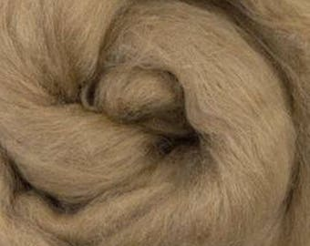 De-Haired Light Brown Baby Camel Top Roving One Ounce for Felting, Spinning