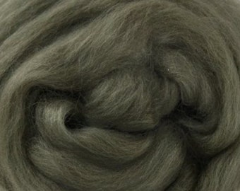 Two Ounces Extra Fine Merino Wool Roving, Color Moss