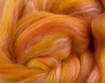Two Ounces Leo Merino Tussah Silk Combed Top Wool for Felting and Spinning
