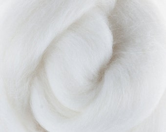 Two Ounces Extra Fine Merino Wool Roving, Color Milk