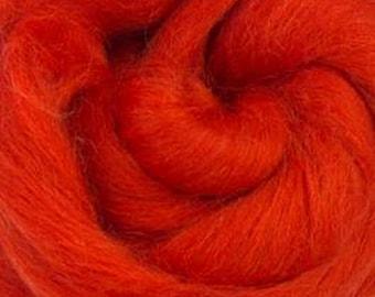Begonia Corriedale 2 oz World of Wool Roving for Felting Spinning Fiber Arts