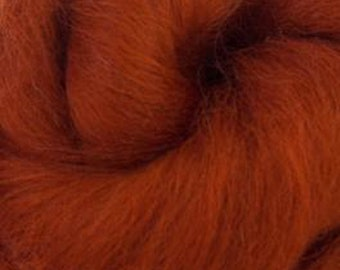 Rust Corriedale 2 oz  Roving for Felting Spinning Fiber Arts