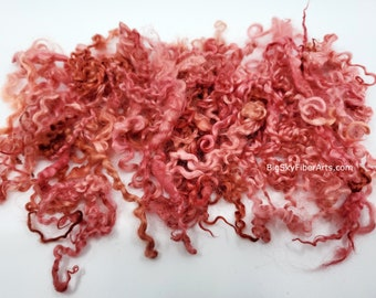 Rose Hand Dyed Teeswater locks 4 - 7 inches