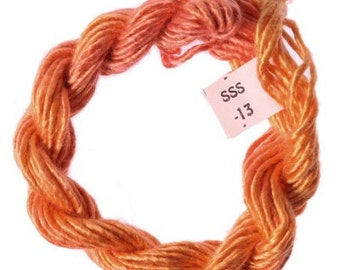 Sale Price! Hand Dyed Spun Silk Stef Francis Thread 13