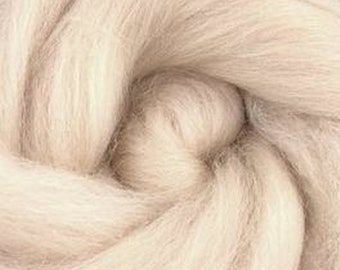 Flesh Corriedale 2 oz  Roving for Felting Spinning Fiber Arts