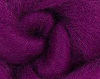 Damson Corriedale 2 oz  Roving for Felting Spinning Fiber Arts