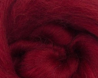 Ruby  Corriedale 2 oz  Roving for Felting Spinning Fiber Arts