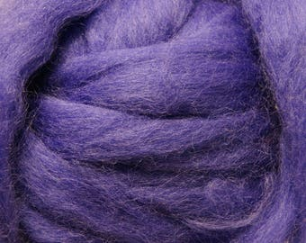 Sale! Purple Romney Wool Roving for Needle Felting One Ounce