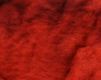 Red Floating Color Merino Batt 100 Grams (3.5 Ounces)