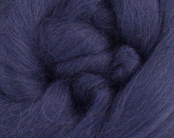 Petrol Corriedale 2 oz World of Wool Roving for Felting Spinning Fiber Arts