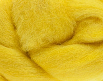 Two Ounces Extra Fine Merino Wool Roving, Color Sun
