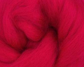 Crimson Corriedale 2 oz World of Wool Roving for Felting Spinning Fiber Arts