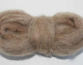 Rabbit Bulky Carded Corriedale One Ounce for Needle Felting