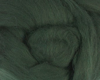 Two Ounces Extra Fine Merino Wool Roving, Color Fir