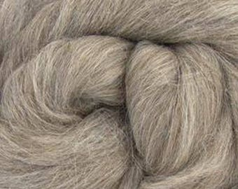 Gray Baby Alpaca Top Two Ounces for Felting, Spinning
