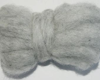 Drizzle Bulky Carded Corriedale One Ounce for Needle Felting