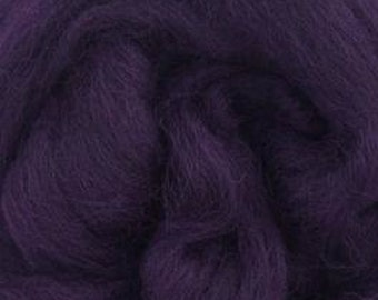 Aubergine Corriedale 2 oz World of Wool Roving for Felting Spinning Fiber Arts