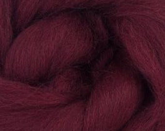 Burgundy  Corriedale 2 oz World of Wool Roving for Felting Spinning Fiber Arts