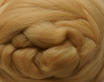Two Ounces Extra Fine Merino Wool Roving, Color Dune