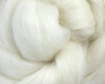 De-Haired Bleached Yak Top Roving One Ounce for Felting, Spinning