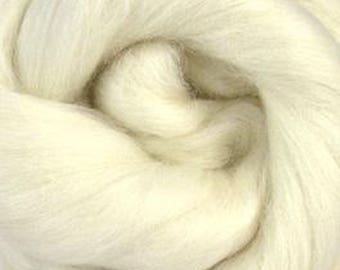 White Baby Alpaca Top Two Ounces for Felting, Spinning