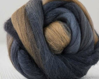 Two Ounces Extra Fine Merino Wool Roving Color Autumn Rhythm for Felting and Spinning