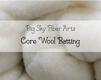 Core Wool Batting, Two Ounces, Needle Felting, 3D felting, Needle Felted Animal, Wool Stuffing
