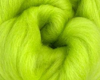 Citrus Corriedale 2 oz World of Wool Roving for Felting Spinning Fiber Arts