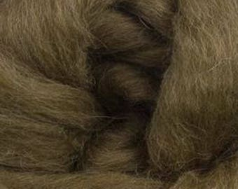 Brown Finn Wool Top Roving Two Ounces for Felting Spinning