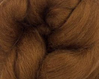 Chocolate Nougat Corriedale 2 oz  Roving for Felting Spinning Fiber Arts