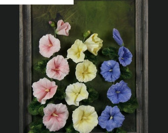 Three-Dimensional Hollyhock Course Pack, wool felting, 3d felting