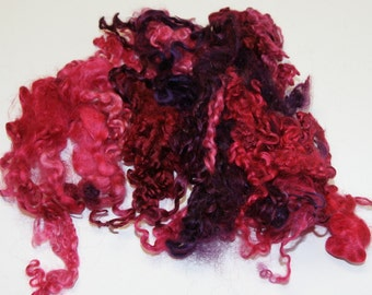Rose Wensleydale Locks One Ounce 4 to 7 Inches for Felting, Doll Making, and Fiber Arts