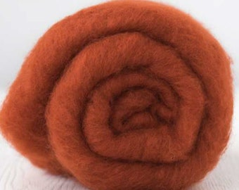 DHG Extra Fine Merino Batt Rust for Felting 3.5 Ounces (100 grams)