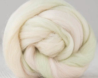Two Ounces Extra Fine Wool Roving Color Spirit of the Circus for Felting and Spinning