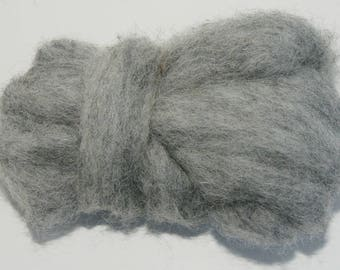 Fog Bulky Carded Corriedale One Ounce for Needle Felting