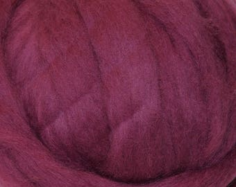 Sale! Wildberry Romney Wool Roving for Needle Felting Two Ounces