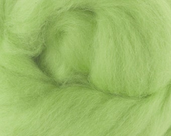Two OuncesExtra Fine Merino Wool Roving, Color Chlorophyll