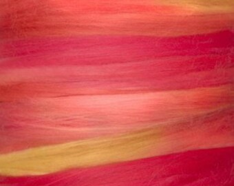 Two Ounces Extra Fine Wool Roving Color MR for Felting and Spinning