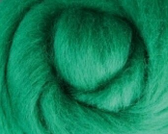 Green Corriedale Wool Roving Two Ounces for Felting and Spinning