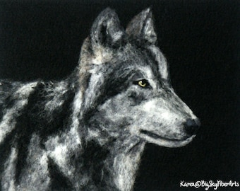 A Howling Good Time Course Pack, wool painting, 2 D felting