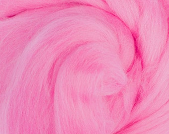 Two Ounces Extra Fine Merino Wool Roving, Color Cyclamen