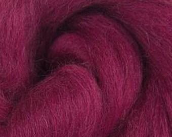 Elderberry Corriedale 2 oz World of Wool Roving for Felting Spinning Fiber Arts