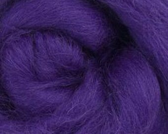 Amethyst Corriedale 2 oz World of Wool Roving for Felting Spinning Fiber Arts