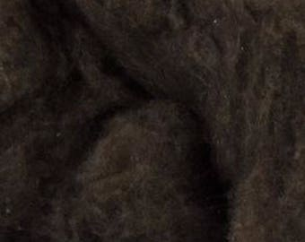 De-Haired Dark Brown Yak Down One Ounce for Felting, Spinning