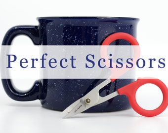 Perfect Scissors Curved, Karen Kay Buckley Red Curved Scissors, sewing scissors, embroidery scissors